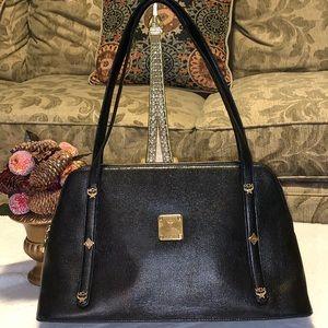 MCM  Black Leaather Shoulder Bag PVC